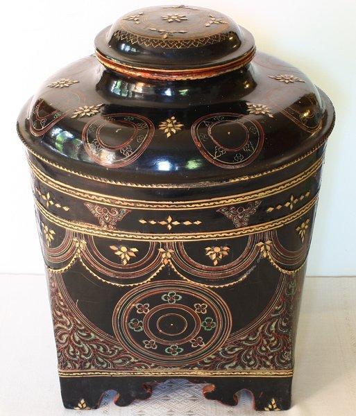 antique Burmese lacquerware BLW30M