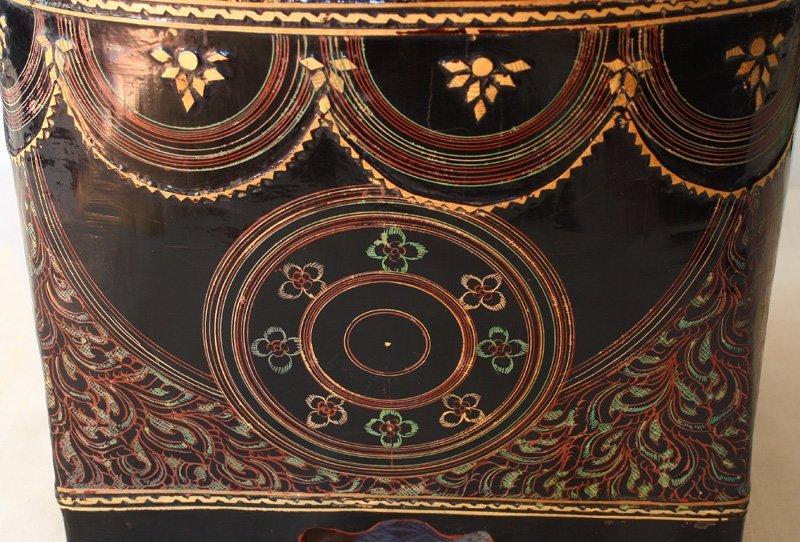 antique Burmese lacquerware BLW30M3