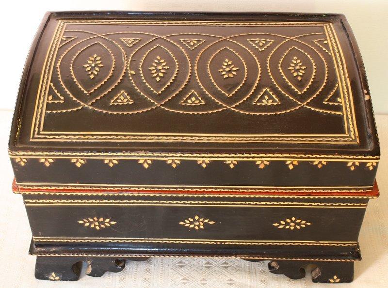 antique Burmese lacquerware BLW31M