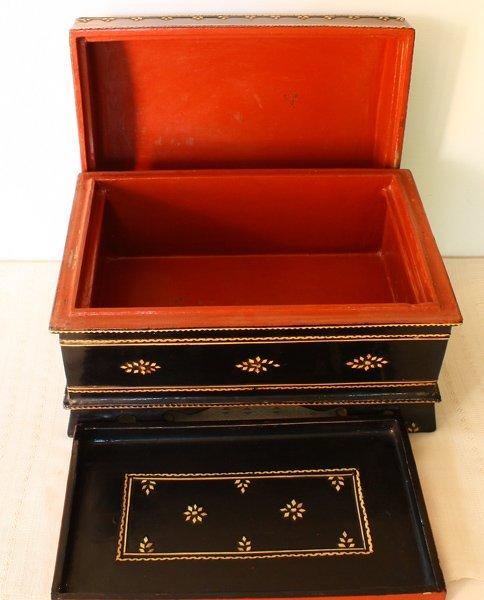antique Burmese lacquerware BLW31M5