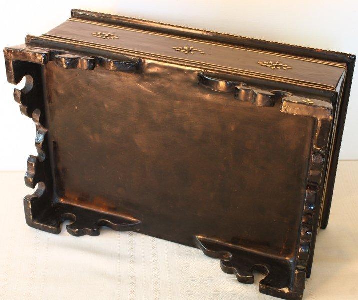 antique Burmese lacquerware BLW31M7