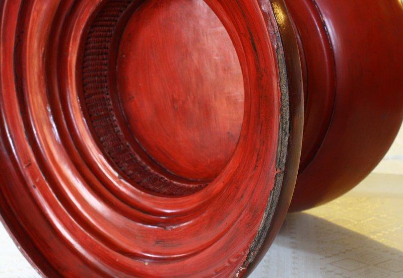 antique Burmese lacquerware BLW32M4
