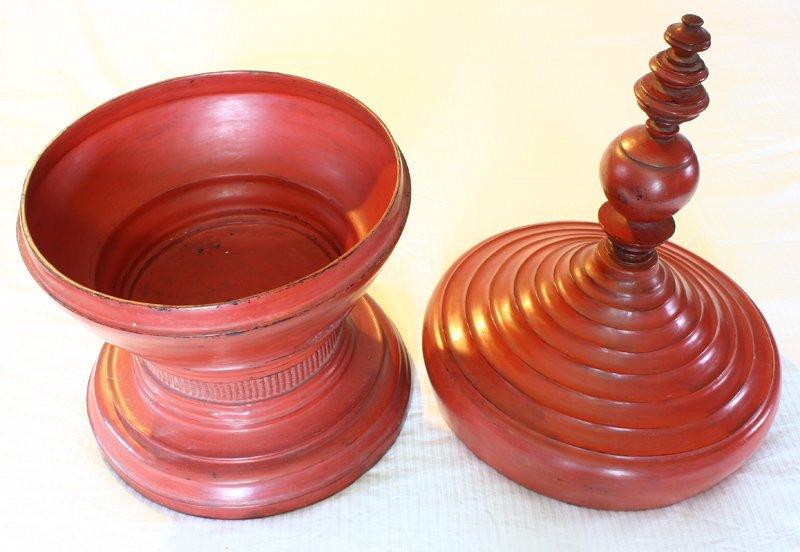 antique Burmese lacquerware BLW32M5