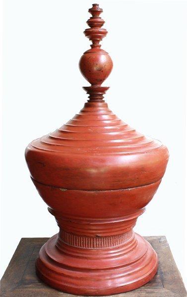 antique Burmese lacquerware BLW32MM