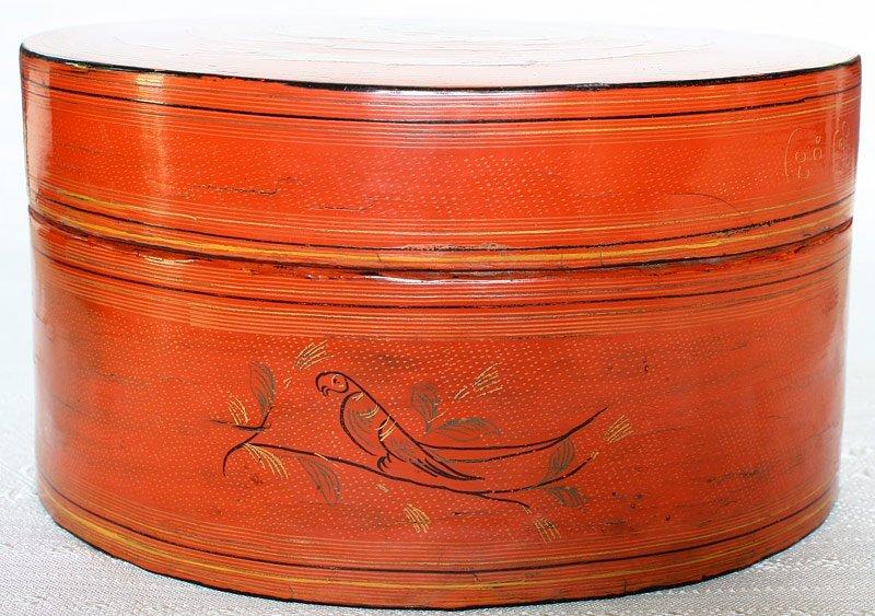 Antique Burmese Lacquerware BLW33M2