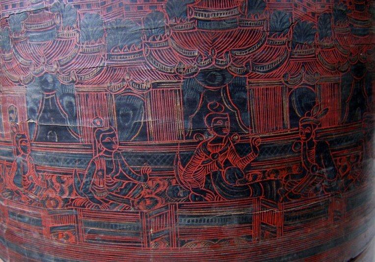 Antique Burmese Lacquerware EUO23M3BLOG