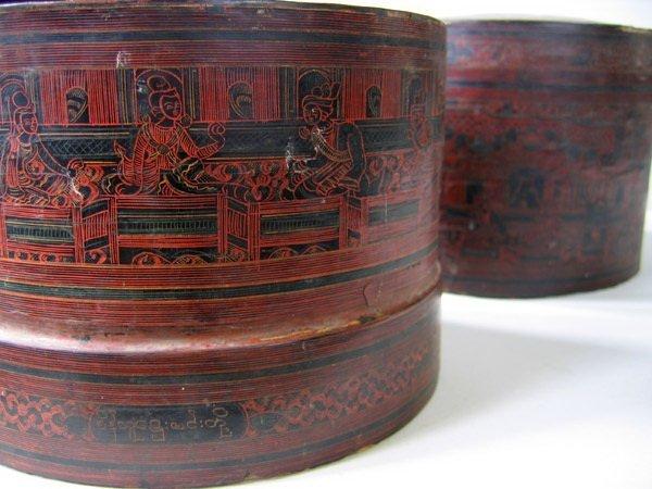 Antique Burmese Lacquerware EUO23M6