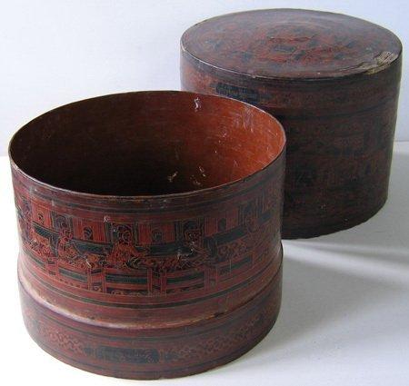 Antique Burmese Lacquerware EUO23M7