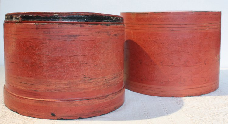 Antique Burmese Lacquerware EUO32M