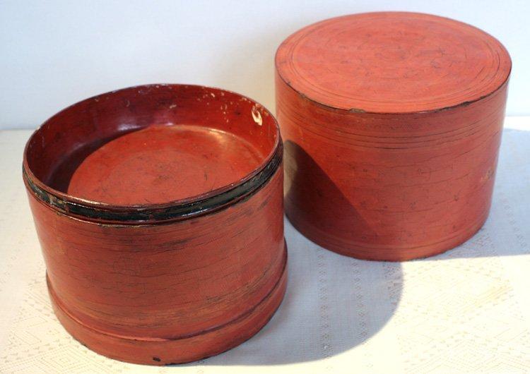 Antique Burmese Lacquerware EUO32M2