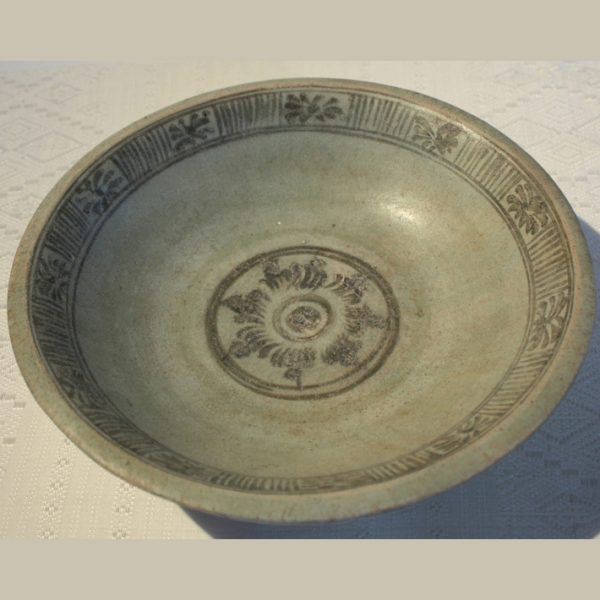 Sawankhalok / Sukhothai Ceramic Celadon Plate 15th-16thC EUO34MK