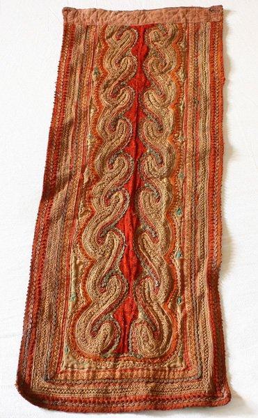 Vintage embroidered tribal textile TTA21