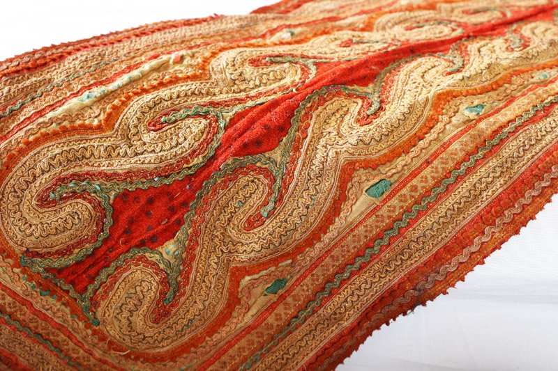 Vintage embroidered tribal textile TTA21M3