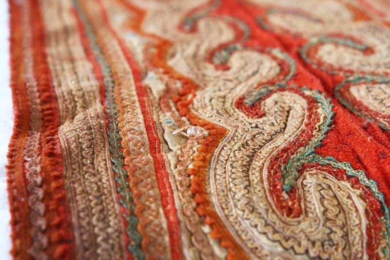 Vintage embroidered tribal textile TTA21M4