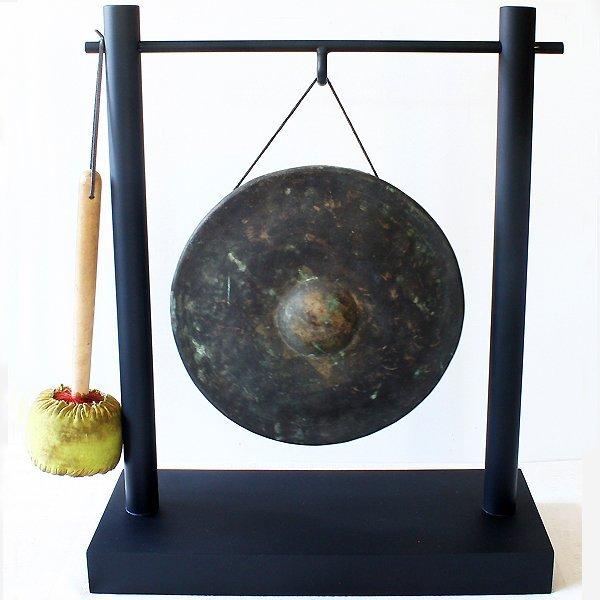 antique bronze temple gong