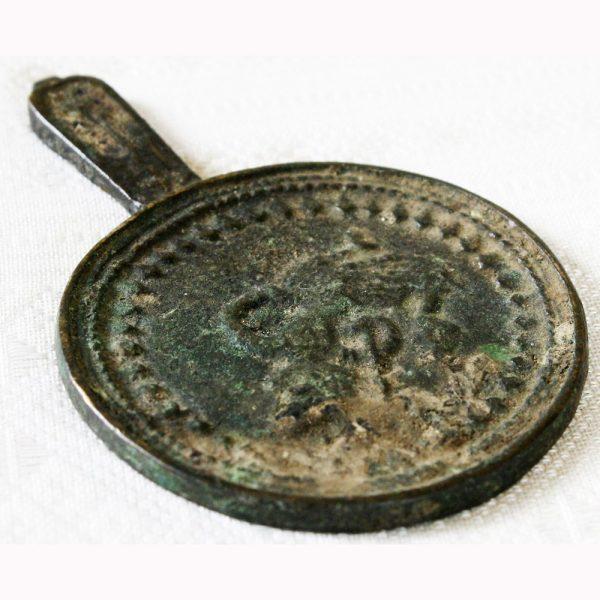 Antique Khmer bronze candle holder