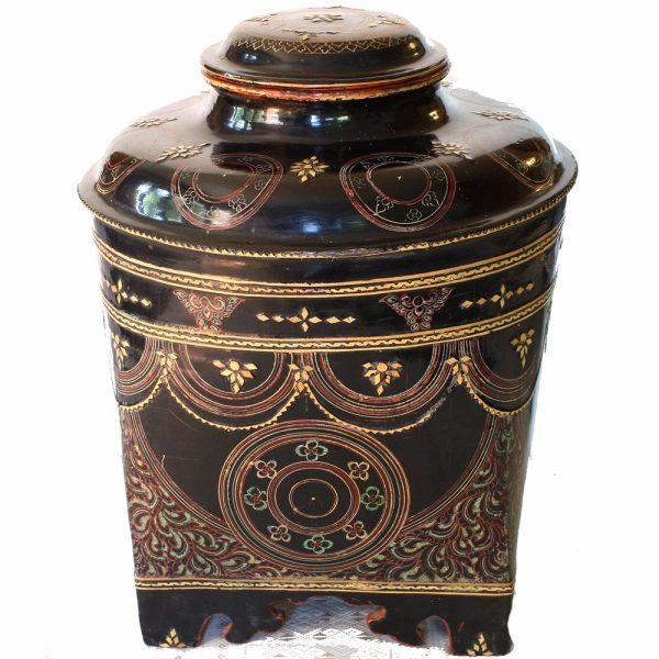 antique Burmese lacquer container
