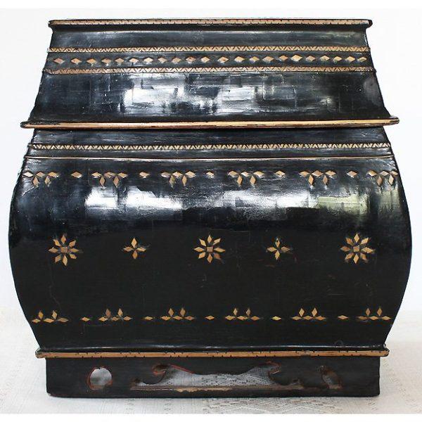 antique Burmese lacquerware box