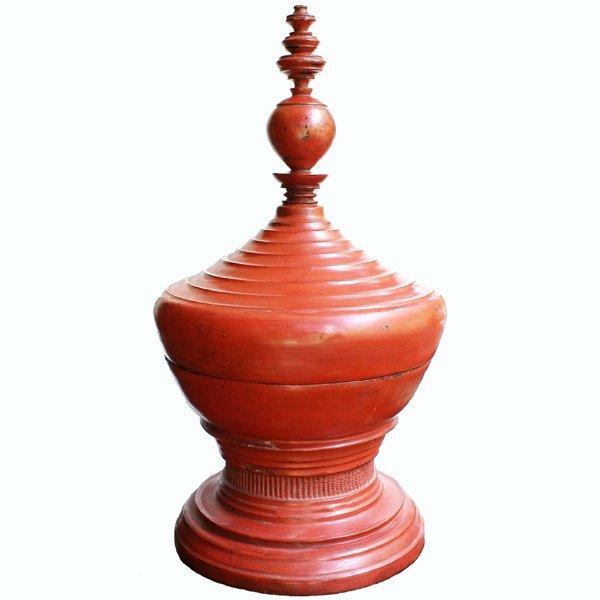 large antique Burmese lacquerware hsun-ok