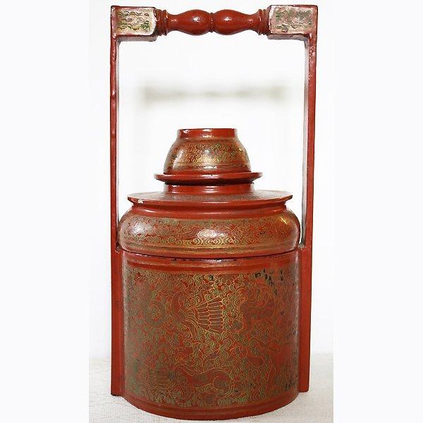 antique lacquerware tiffin box BLW21