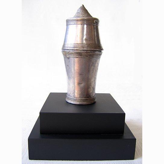 antique silver lime pot