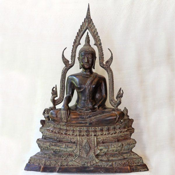 Antique Phitsanulok Bronze Buddha Statue