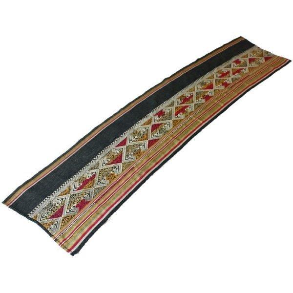 Vintage silk textile tin-sin Laos