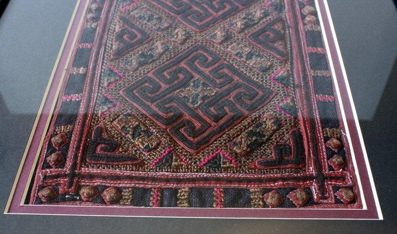 antique framed Hmong textile LSA22M