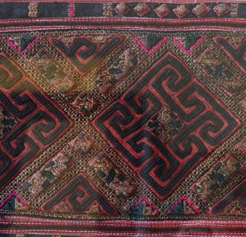 antique framed Hmong textile LSA22M2LSA22M3