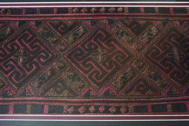 antique framed Hmong textile LSA22M3