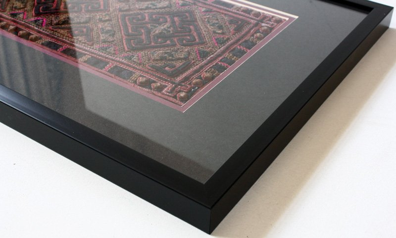 antique framed Hmong textile