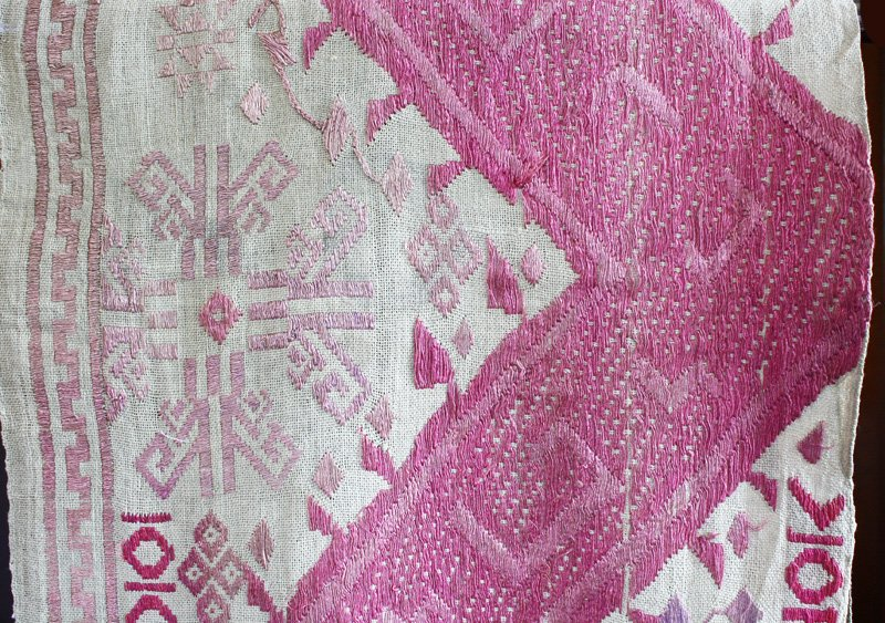 vintage silk textile