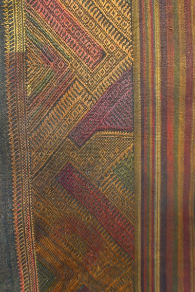Vintage silk textile tin-sin Laos LSA47M2