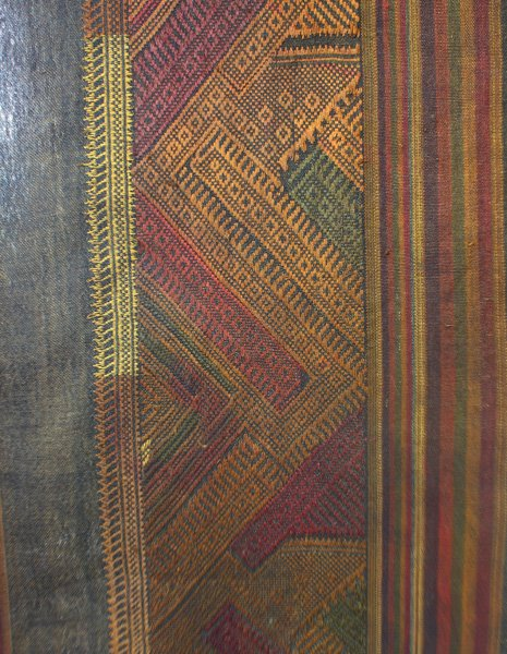 Vintage silk textile tin-sin Laos LSA47M3