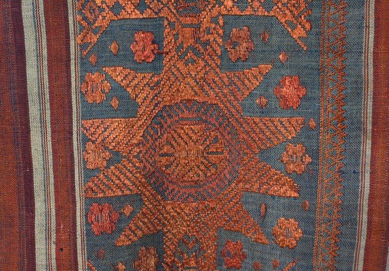 Vintage silk textile tin-sin Laos LSA48M