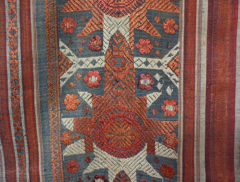 Vintage silk textile tin-sin Laos LSA48M2