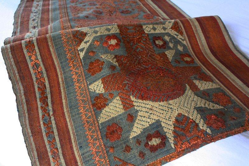 Vintage silk textile tin-sin Laos LSA48M3