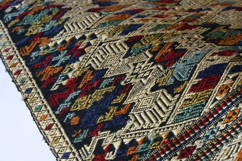 traditional hand woven silk textile