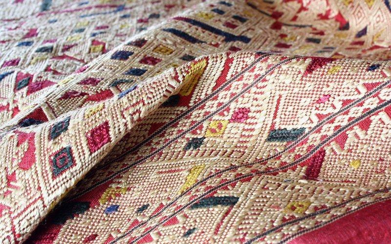 gold silk textile