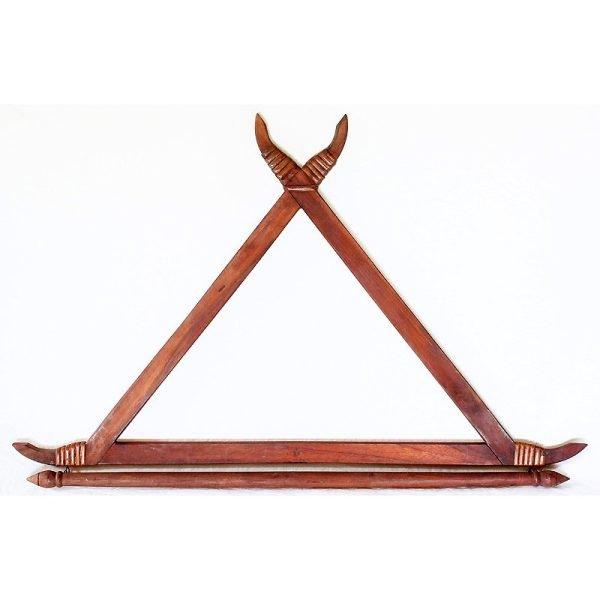Traditional Thai Wooden Textile Hanger