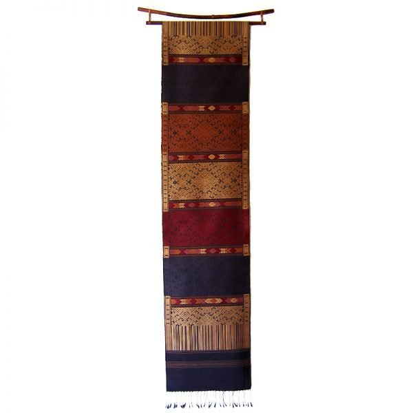 Exquisite silk wall hanging Laos
