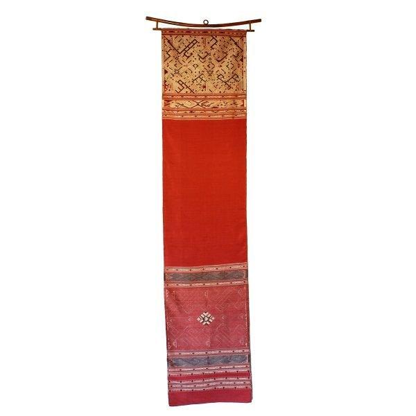 Vintage silk wall hanging Laos