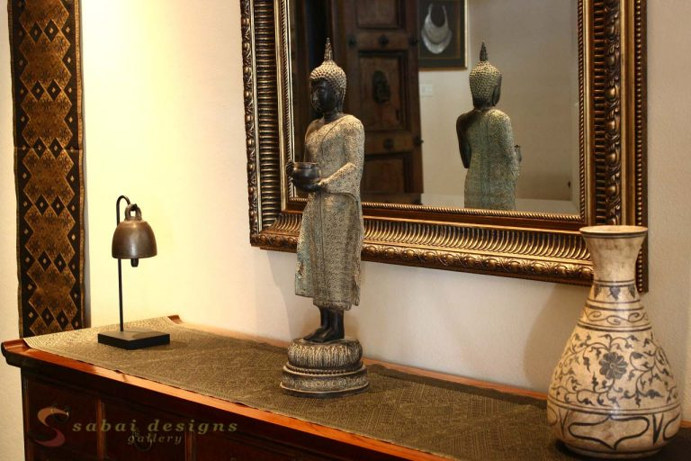 Bronze Buddha, Entrance, Asian Home Decor