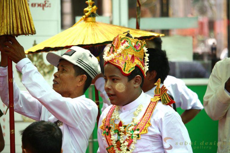 Buddhist festival Burma