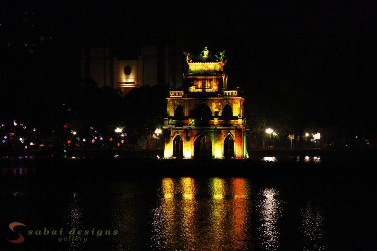 Thap Rhua Tower at Night