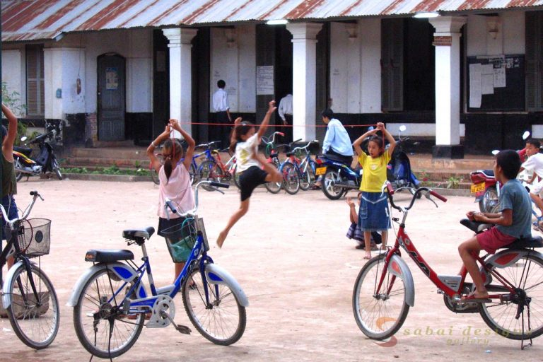 Kids Playing Luang Prabang