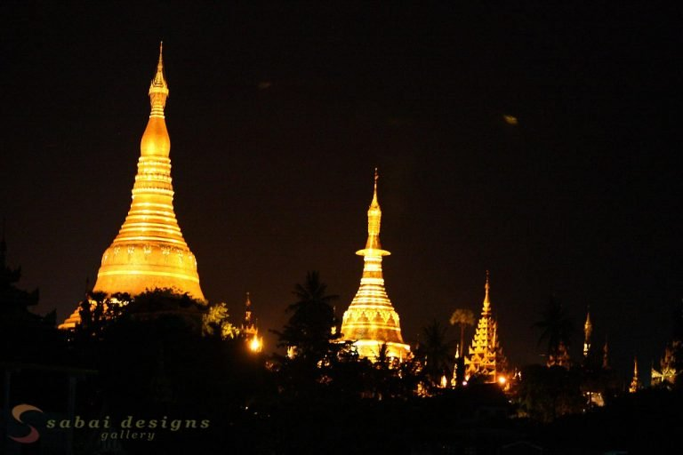 Shwedagon Paya Night Myanmar