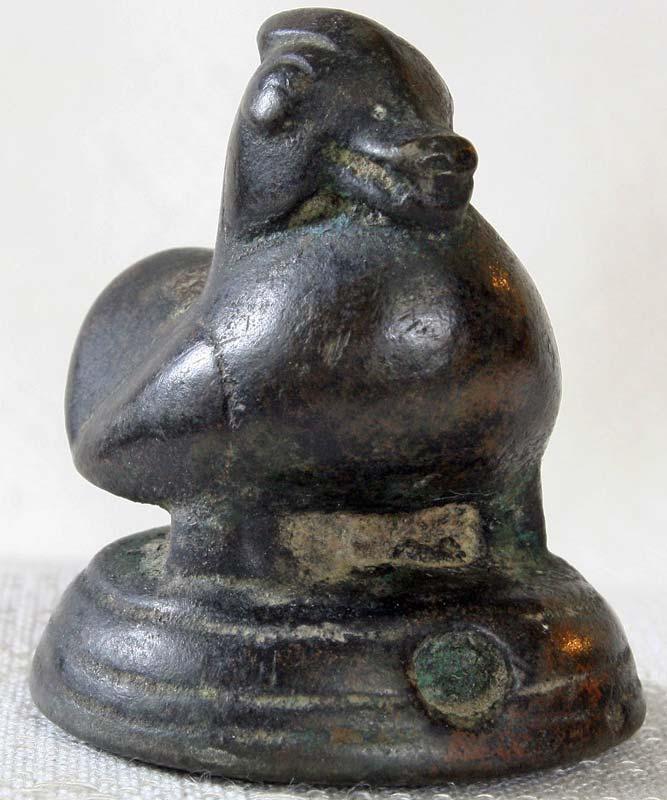 Antique Mon Duck opium weight