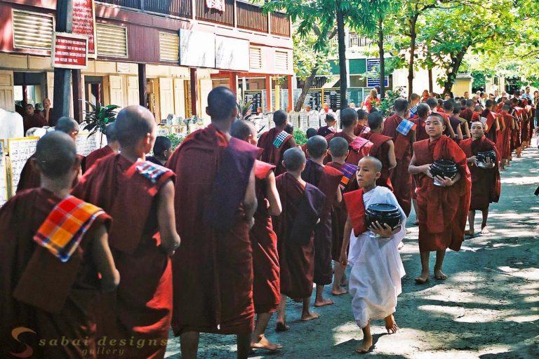 Temple Monks Burma