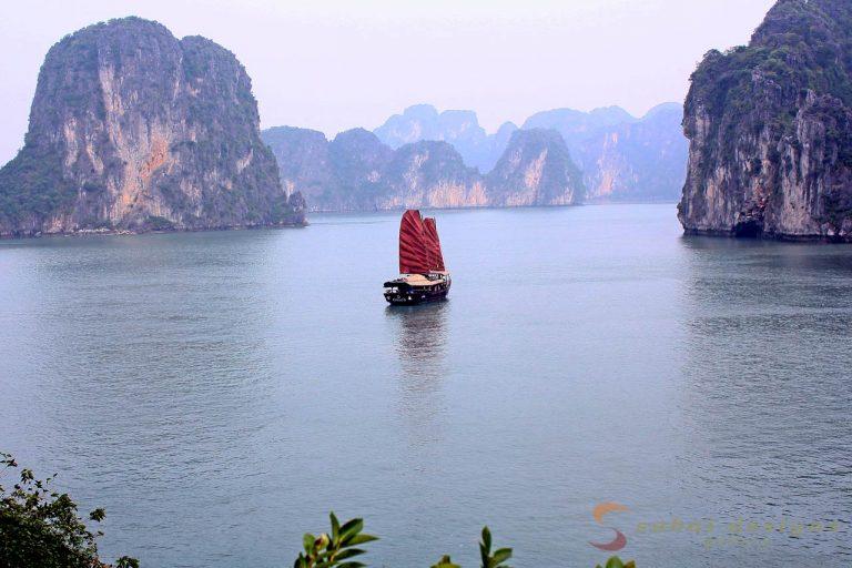Junk, Halong Bay, Vietnam